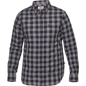 Fjällräven Övik Check Shirt Longsleeve Heren, night sky